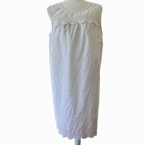 Old Navy White Lace Floral Embroidered Dress SZ L